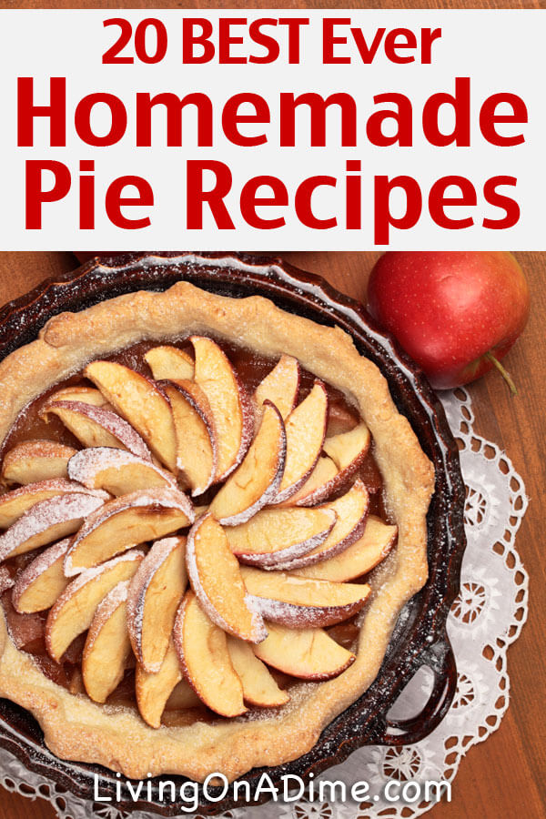 Here are 20 of the best ever homemade pie recipes all in one place! They're quick and easy and they're all super delicious! Great for parties and get togethers!