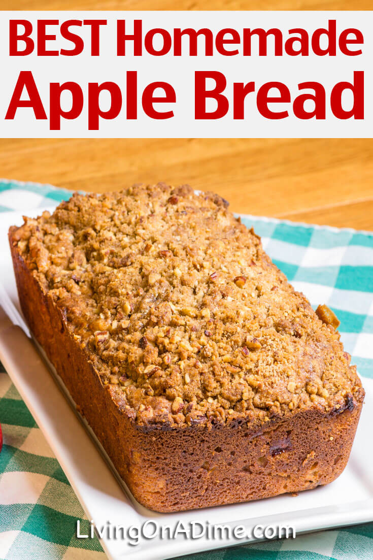 This is the BEST homemade apple bread recipe!! Make it today and you will feel like you're sitting in grandma's kitchen enjoying a cup of tea with her! It makes a great dessert or snack for when the kids get home from school!