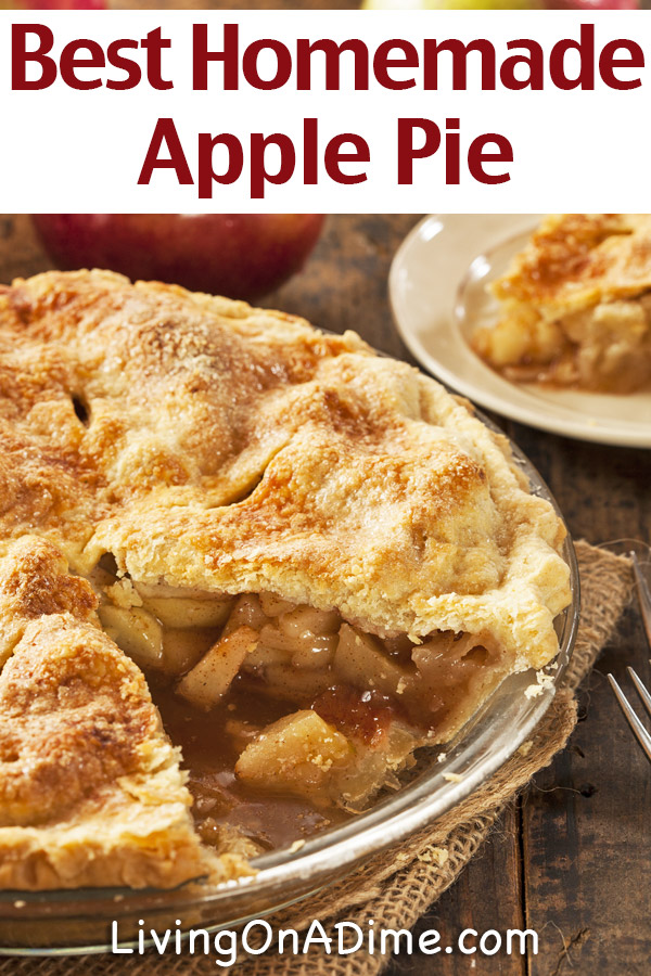 Grandma's Homemade Apple Pie Recipe - This easy and delicious apple pie recipe has been in our family for 75 years or more and still takes the #1 spot at any meal when served.