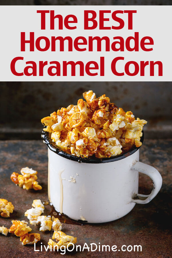 This is the BEST homemade caramel corn recipe! It's so much cheaper and fresher than the store bought kind and my kids and family love it! It's great for parties and after school snacks!