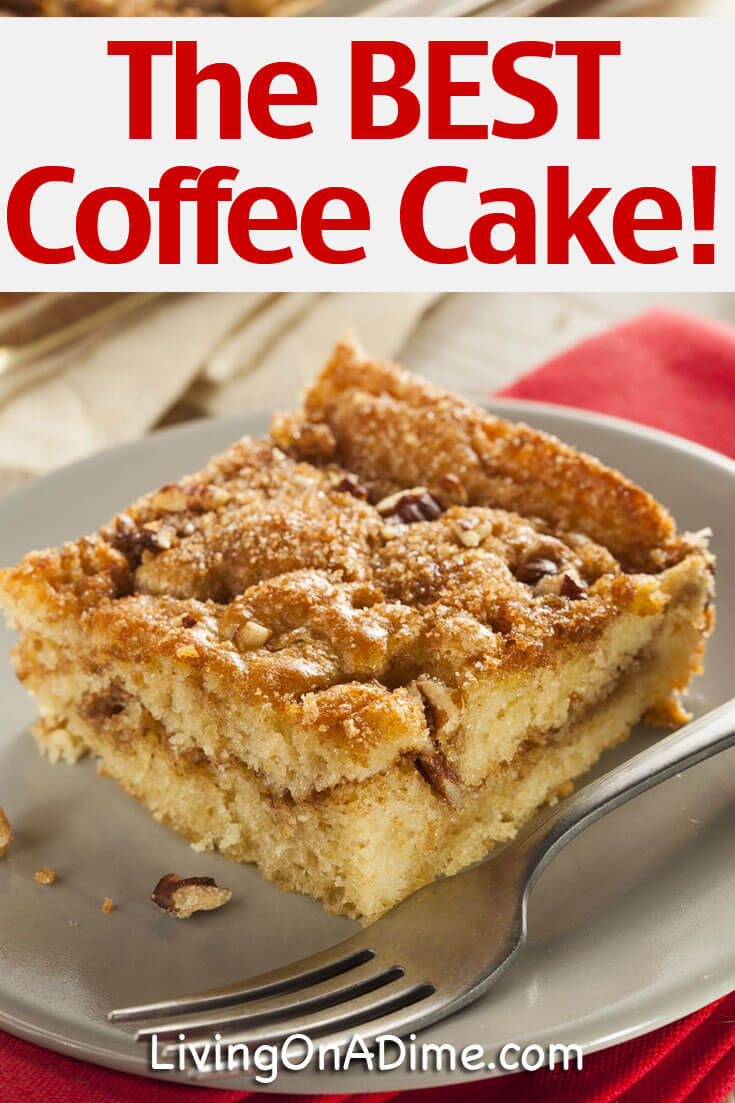 This best homemade coffee cake recipe is a staple in our house. You are going to love it! When I make this coffee cake, it's gone in about 30 minutes, so I usually make a double batch so that we can snack on some later. Try it! You'll love it!