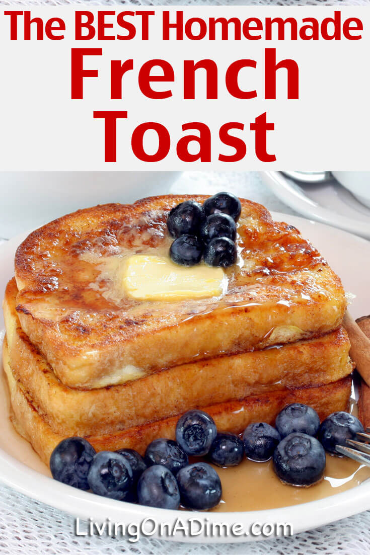 This is the BEST homemade French Toast recipe!! Mom makes this for the grandkids almost every day when she visits. All of our kids have just loved it and they often request it! I know your kids and grandkids will love it too! Make it today and you will feel like you're sitting in grandma's kitchen.