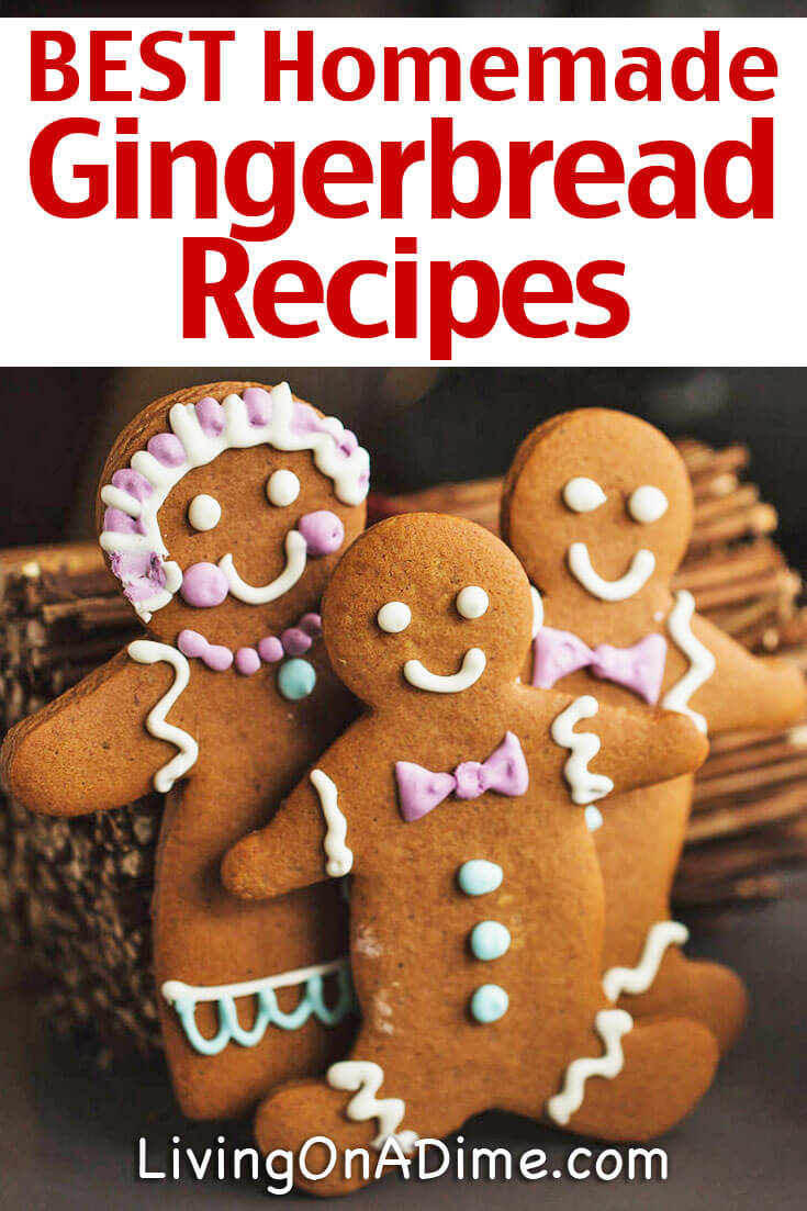 Here are 8 Of The BEST Homemade Gingerbread Recipes all in one place! Gingerbread is a yummy treat for all occasions, but especially for holidays like Christmas and Thanksgiving! Your family and friends will love these easy gingerbread recipes! Whether you're craving gingerbread cookies, gingerbread cake or a sumptuous gingerbread hot chocolate, you'll find it here!