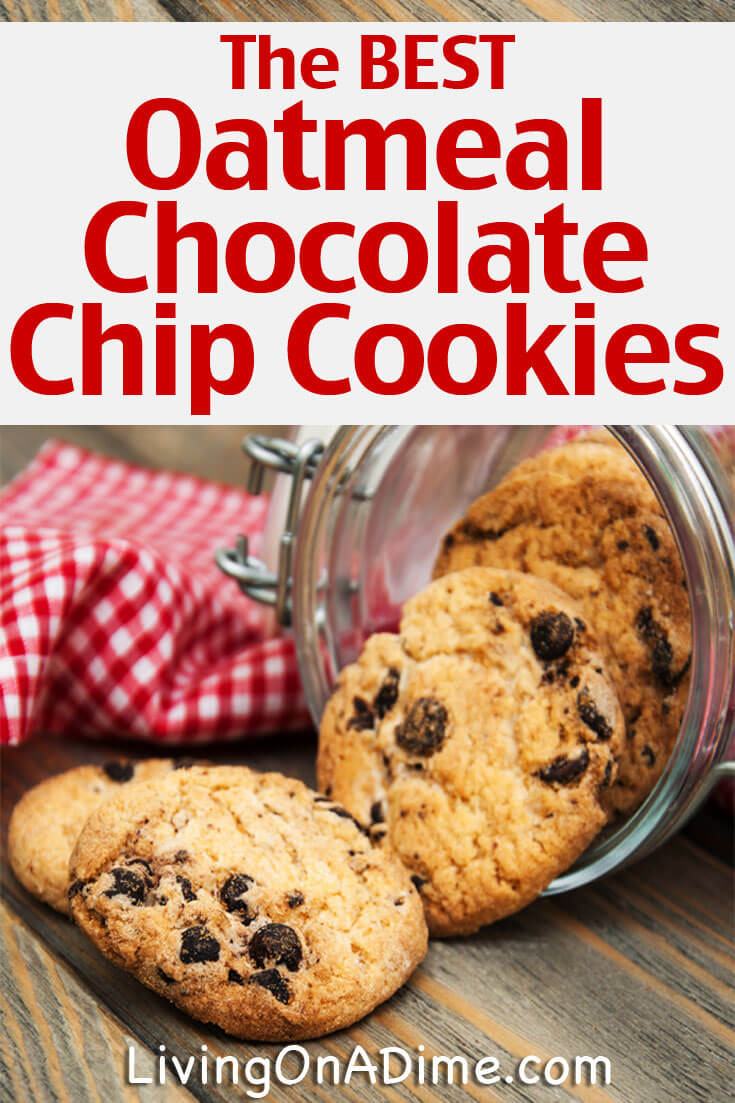 This is the best oatmeal chocolate chip cookies recipe!! These cookies are easy to make and they're so good, they're always gone in about 30 minutes around our house! Click here for the recipe!