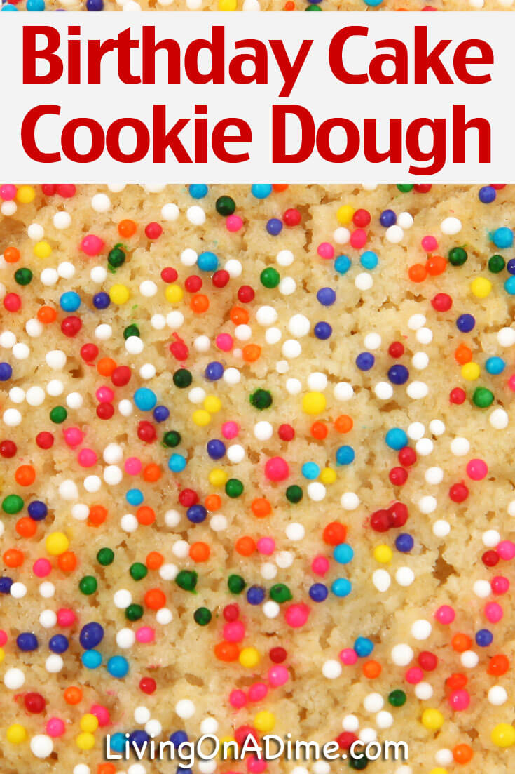What child doesn't like rainbow sprinkles? This birthday cake edible cookie dough recipe makes a festive cookie dough that'll bring joy to their faces!