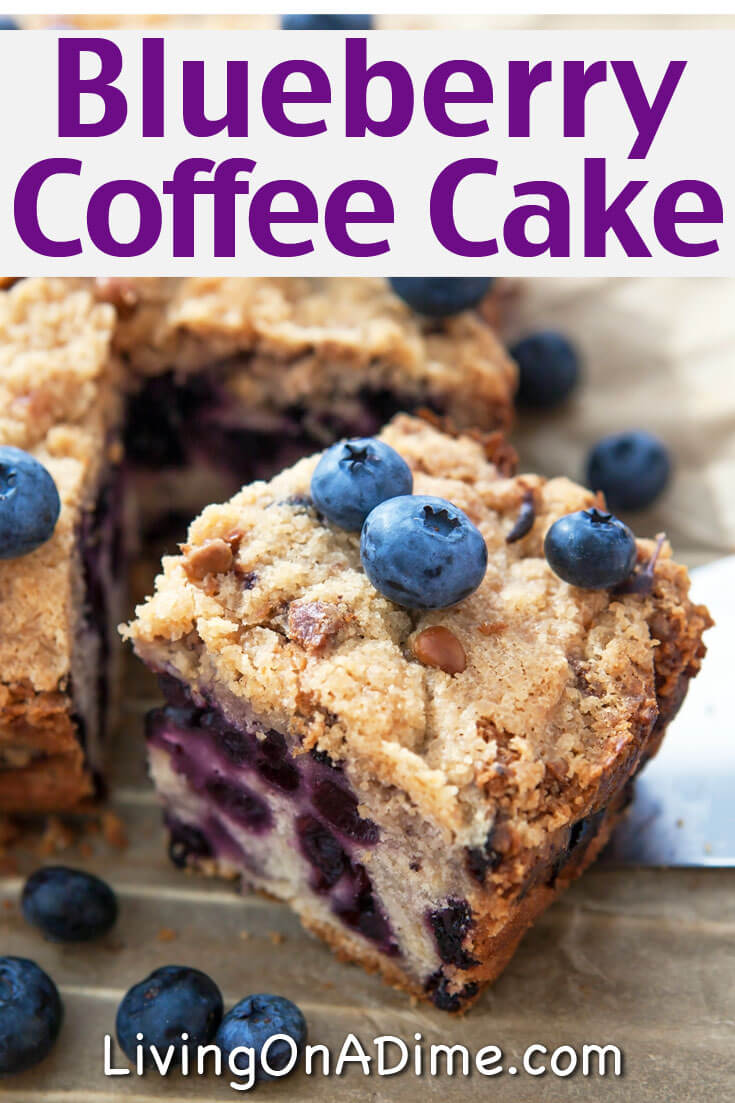 This tasty Blueberry Brunch Coffee Cake Recipe makes a delicious make ahead breakfast item. Since you can make this recipe the night before you need it, it's perfect to serve to overnight guests or on a special holiday morning!