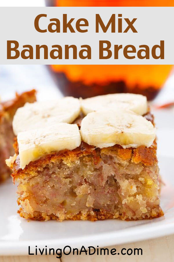 Cake Mix Banana Bread Recipe - Quick And Easy Banana Bread