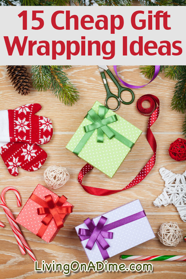 These easy gift wrapping ideas will help you save money on gift wrap or spice up your gifts! You'll also find tips for wrapping unusually shaped items.
