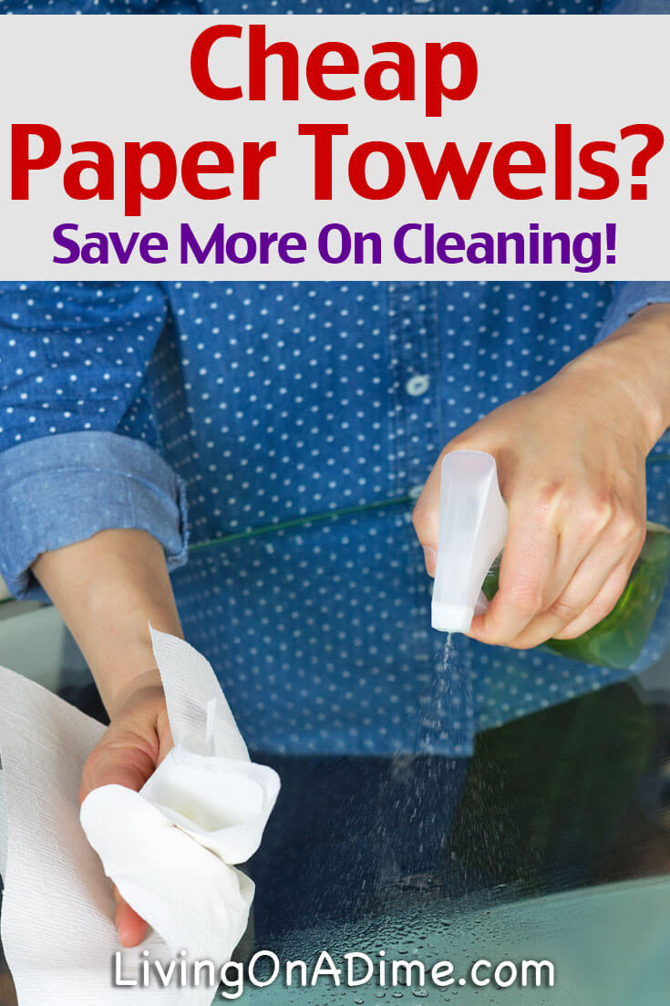 Cheap Paper Towels? Using a lot of paper towels can get expensive, but it's easy to save money on paper towels. Check out our head to heat paper towels test to see which one was the cheapest and learn to save money and clean better with fewer paper towels!