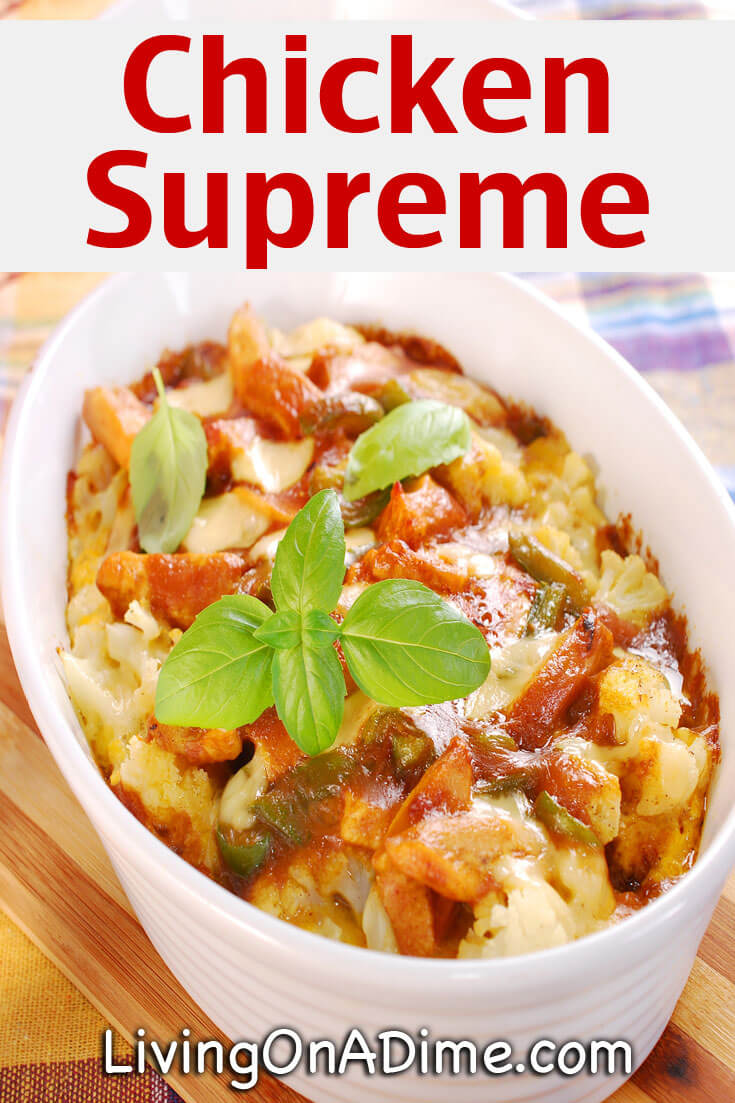 This chicken supreme recipe makes a hearty casserole that is a great way to use leftover chicken or hard boiled eggs. It's a nice variation that will please your family or guests!