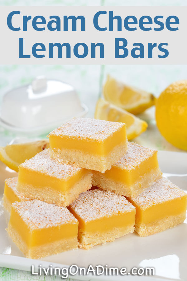 Lemon Bars With Cream Cheese And Cake Mix
