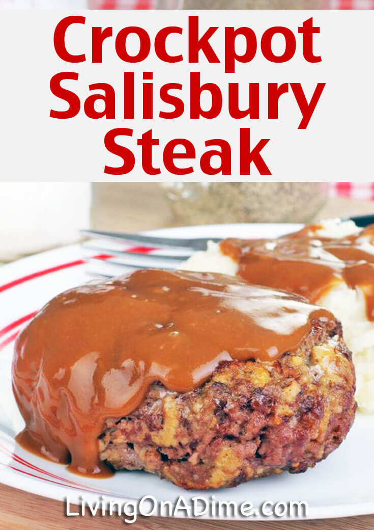 This crockpot salisbury steak recipe is an easy comfort food recipe your family is sure to love! Why pay so much for it at a restaurant when you can make it at home fast and save. It's quick to put together and then you can let it cook in the crockpot until you're ready to serve!
