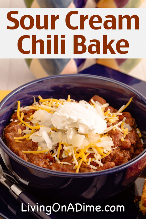 Crockpot Sour Cream Chili Bake Recipe - 10 Crockpot Recipes Under $5