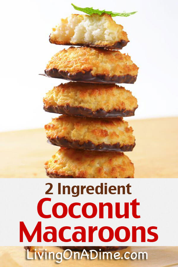 Easy 2 Ingredient Coconut Macaroons Recipe - Super Simple 2 Ingredient Recipes