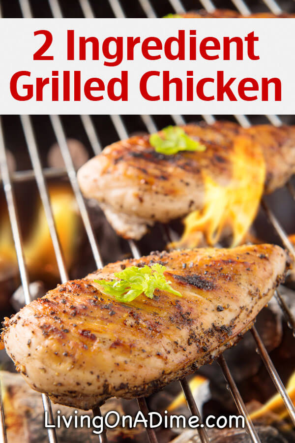 Easy 2 Ingredient Grilled Chicken Recipe - Super Simple 2 Ingredient Recipes