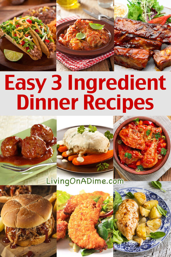 Easy three ingredient recipes