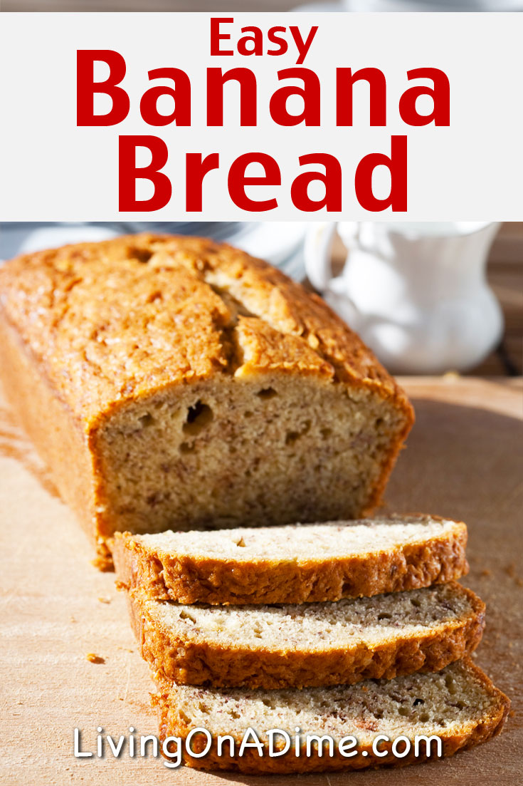 Here is an easy banana bread recipe that has been in our family for generations! This is the BEST banana bread recipe!! This recipe is super quick and easy to make and makes delicious and moist banana bread. It's great in lunches and makes a great snack for when the kids get home from school!