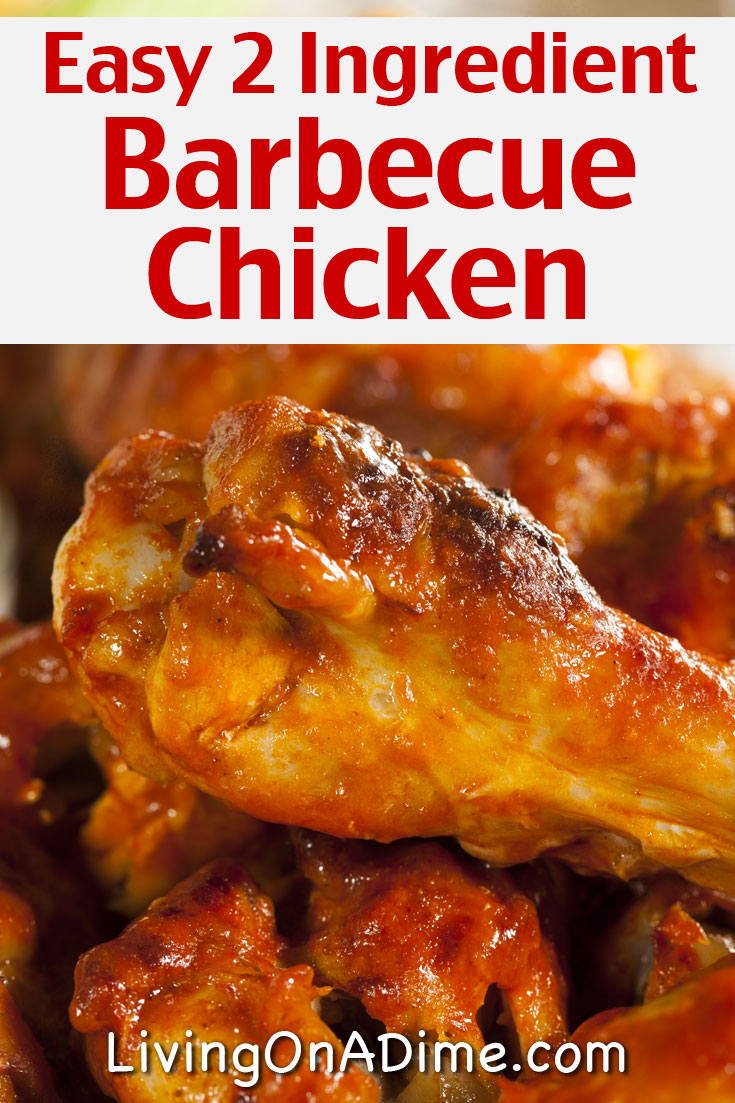 Here is an easy meal plan with a 2 ingredient barbecue chicken recipe, coleslaw and more. You can easily make this meak with just a few minutes work for less than $5 for your entire family!