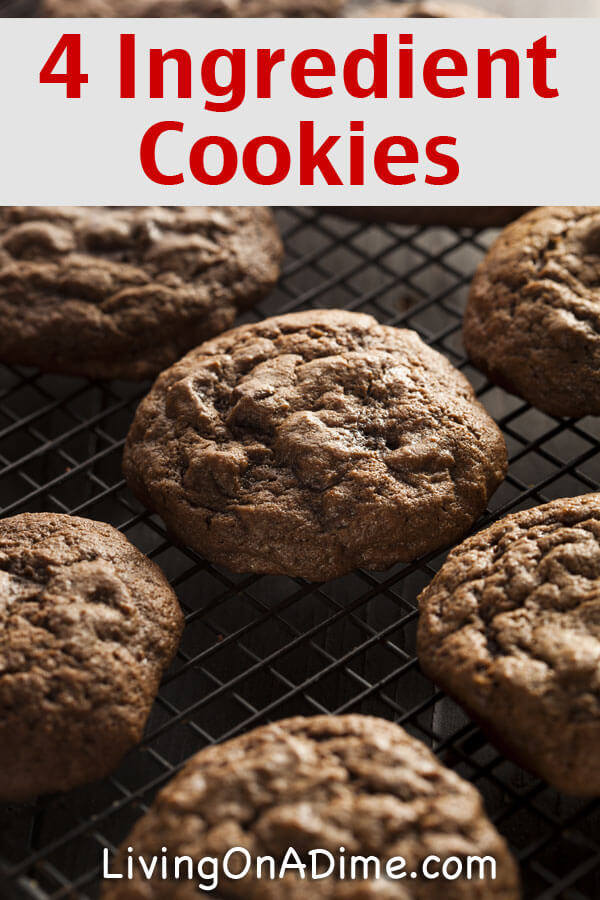 Easy 4 Ingredient Cake Mix Cookies Recipe