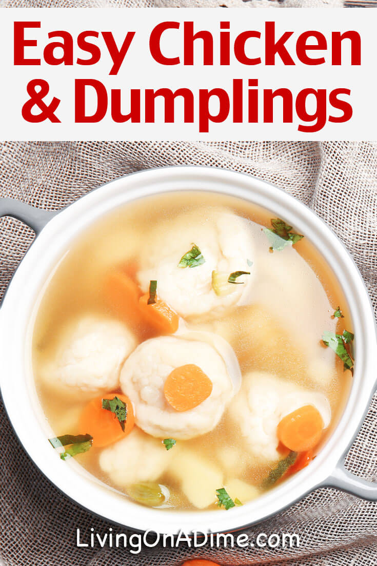 This easy chicken and dumplings recipe is an easy way to make chicken and dumplings like mom and grandma used to make! It's a perfect comfort food!