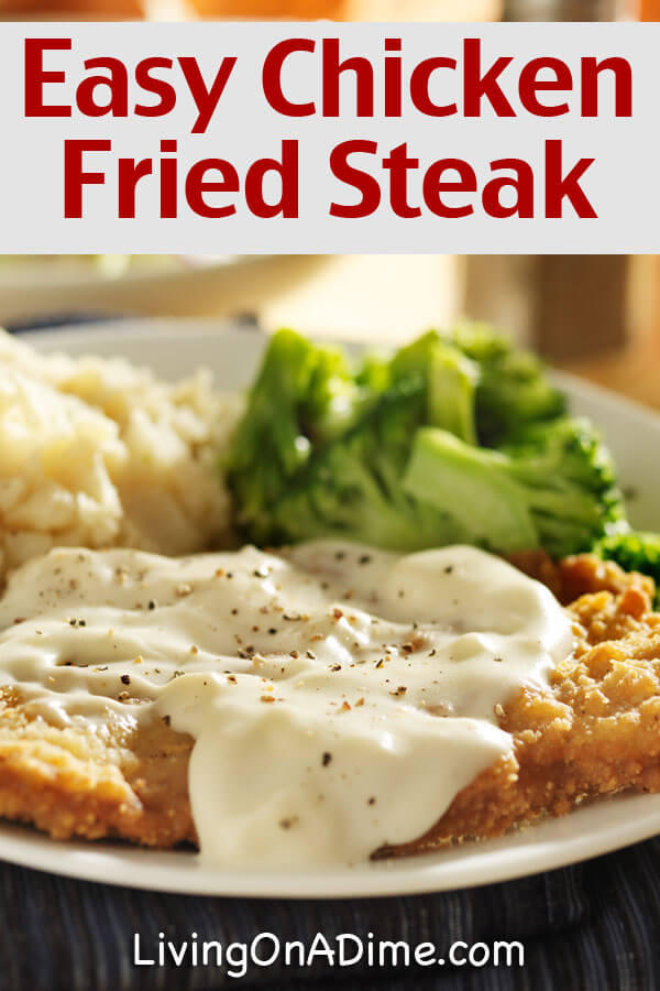 This chicken fried steak recipe is quick and easy and so delicious that your family is sure to love it! Save on your food bill with this inexpensive recipe, which costs dramatically less than the restaurant version!