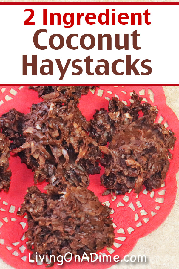 Easy 2 Ingredient Chocolate Coconut Haystacks Recipe