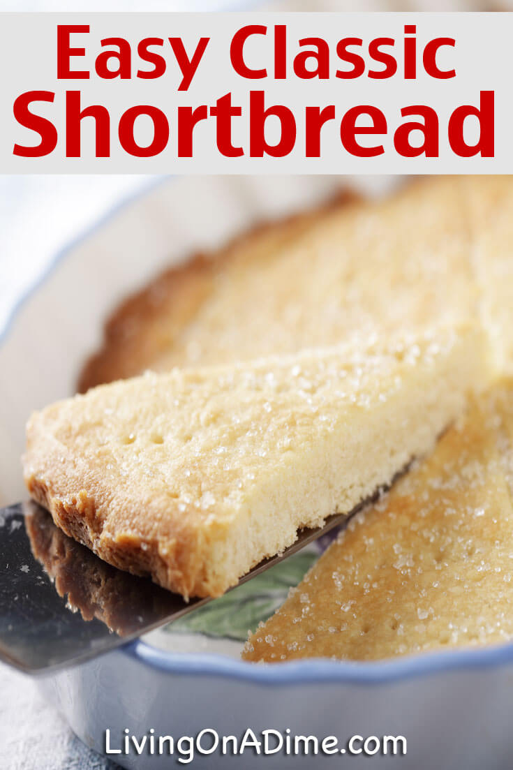 This easy classic shortbread recipe is a simple recipe to make shortbread like grandma's homemade shortbread! Shortbread is delicious alone as a cookie or with strawberries and cream or other berries as a cool snack or dessert!