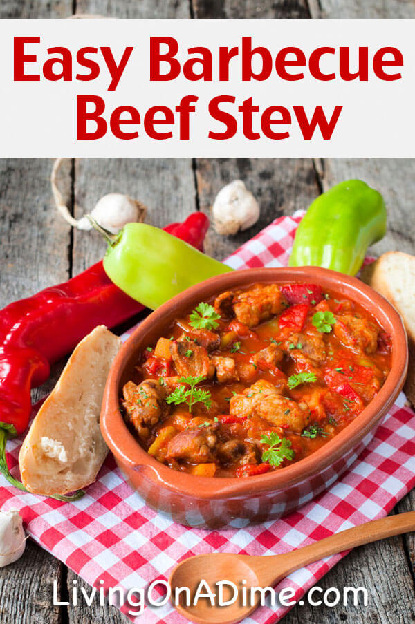 Easy Crockpot Barbecue Beef Stew Recipe