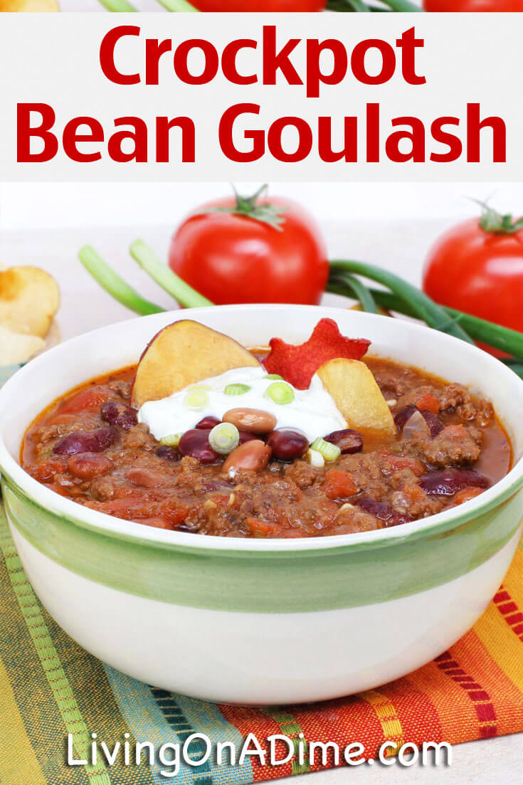 This quick and easy crockpot bean goulash recipe is tasty, will get ...