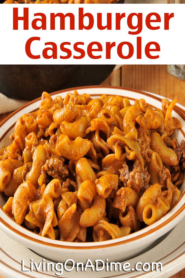 This easy hamburger casserole recipe is a great recipe when the kids are hungry and you don't have a lot of time. It's popular with virtually everyone! Serve with a vegetable and some applesauce and you've got an entire meal in minutes!