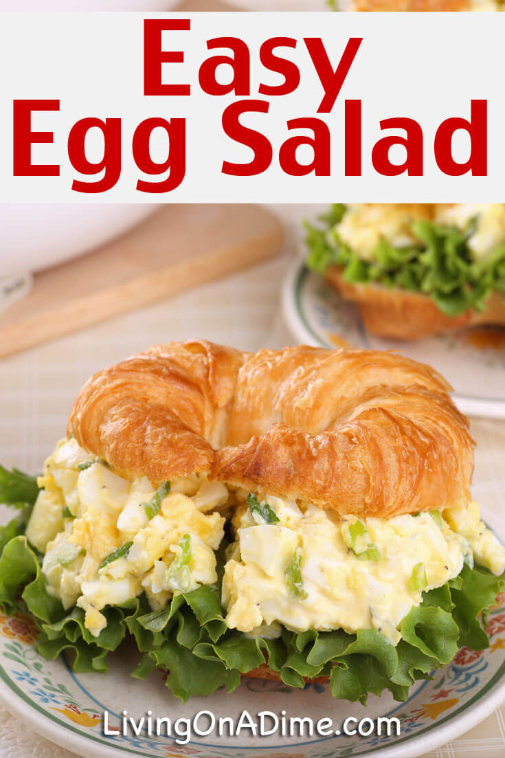 This easy egg salad recipe is another tasty recipe to help use up all ...
