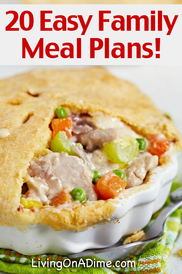 Here are some easy family meal ideas and meal plans for the entire month of November that will make it easier feeding your family for less and spend less time in the kitchen! These are easy and delicious comfort food recipes designed to make the most of less work! We've made it easy for you with these family meal plans and recipes!