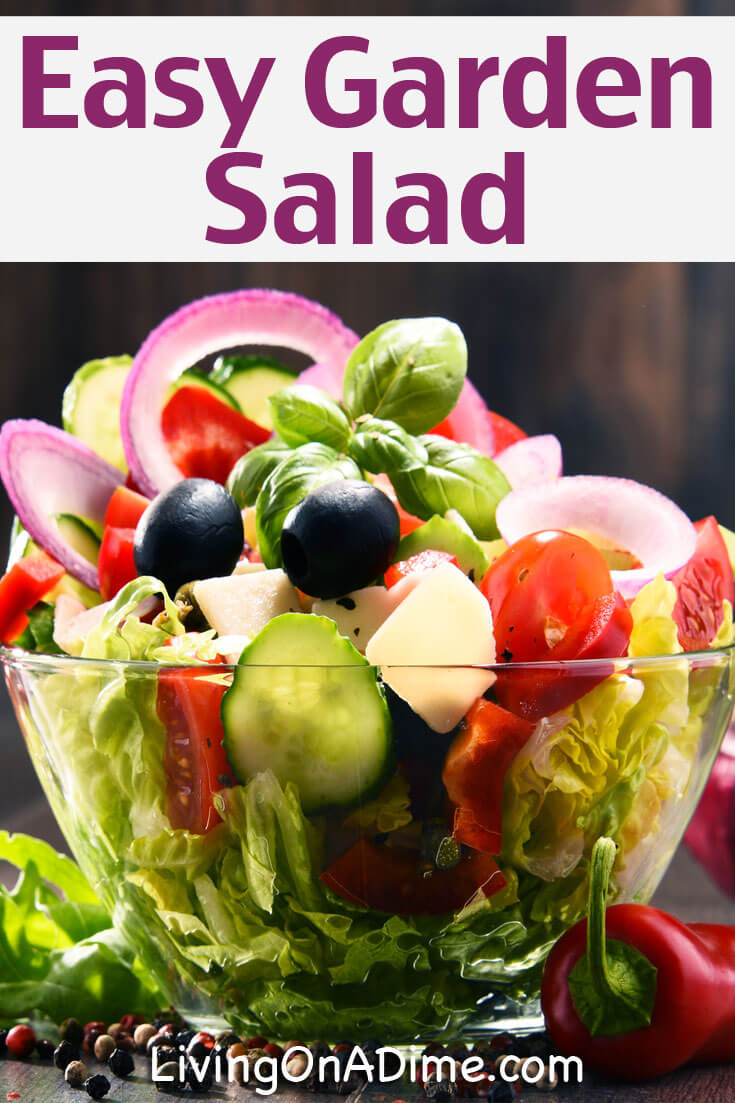 Here is a super yummy and easy garden salad recipe that makes a healthy and delicious salad that's sure to please!