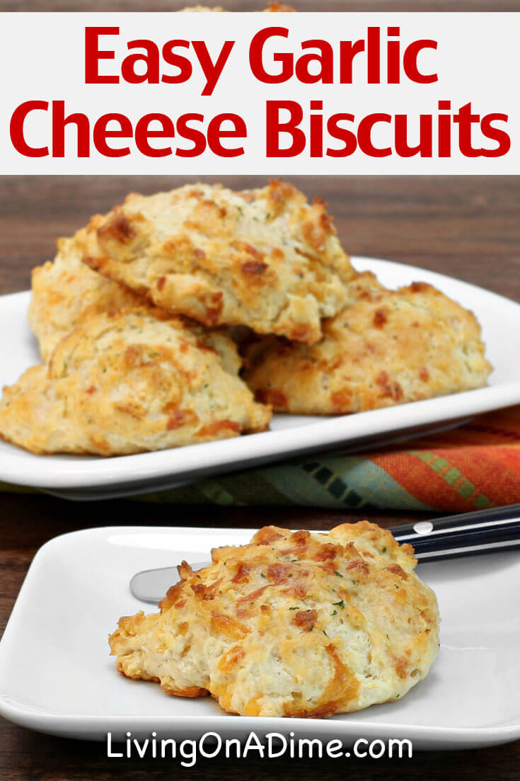 This easy garlic cheese biscuits recipe is super yummy and tastes like the garlic biscuits at Red Lobster. It's one of our family's favorite recipes and your family is sure to love it! You'll also find a meal plan including a yummy confetti chicken recipe and a tasty frozen fruit fluff!