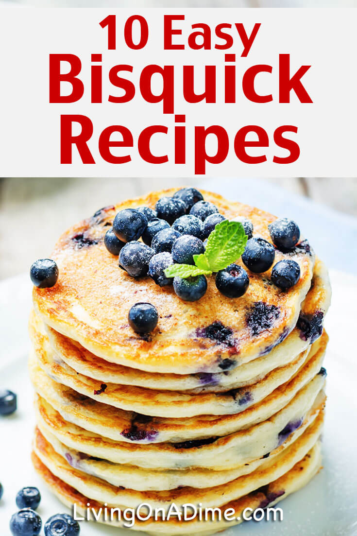 Here are 10 easy homemade Bisquick recipes that you can make with Bisquick or your favorite baking mix. Keeping some baking mix on hand can make baking easier and reduce the time you have to spend in the kitchen.