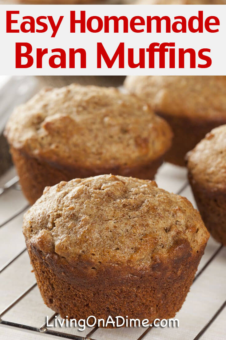 This easy homemade bran muffins recipe makes muffins that are so moist and delicious you won't believe that they didn't come right out of the Amish bakery. The best part is you can make the batter up for the week and just take out what you need each day to make fresh homemade muffins in a snap!