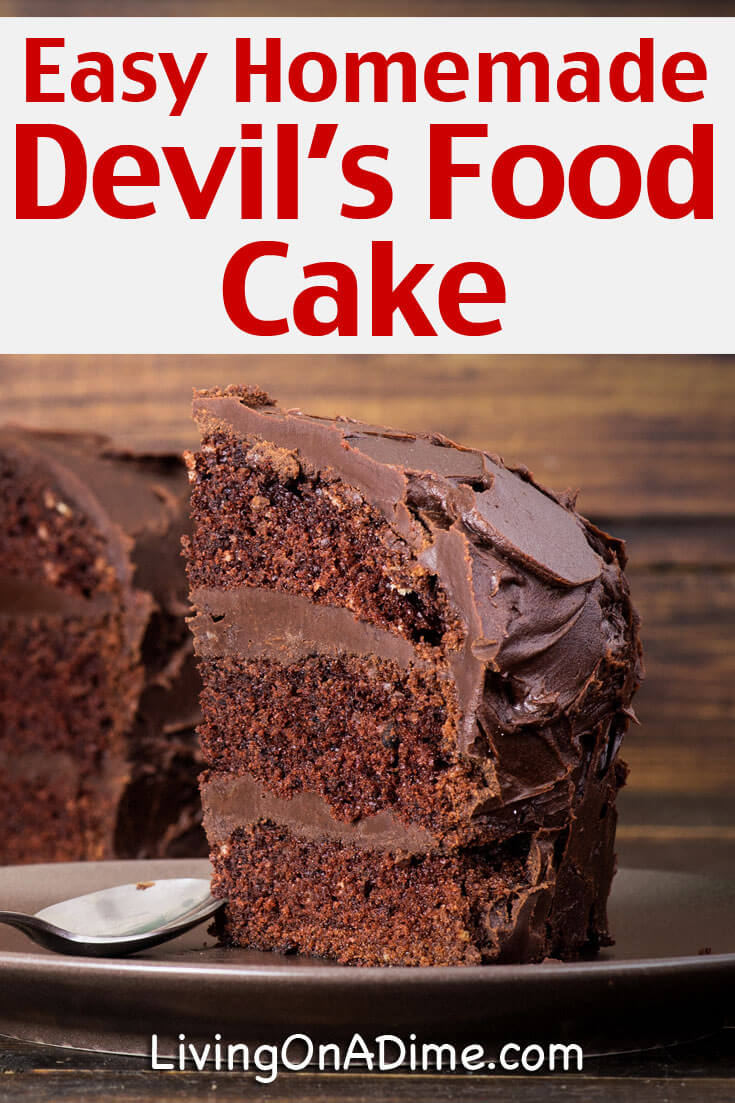 Did you know that you can make devil's food cake at home?  You can! This easy homemade devil's food cake recipe tastes just like the perfect chocolate cake you've been dreaming of! This is such a yummy recipe, it will be your new stand by when you're dying for something moist and chocolatey!