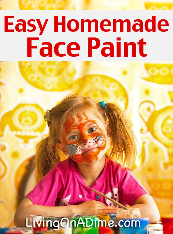 Easy Homemade Face Paint Recipe - How To Make Face Paint