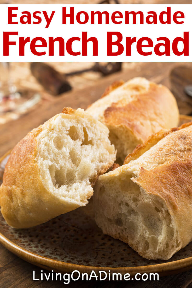 This easy homemade French bread recipe makes the BEST homemade French bread you will ever eat! It doesn't take too long to make and your family will LOVE it! Once you eat homemade French bread, you will never go back to store bought!