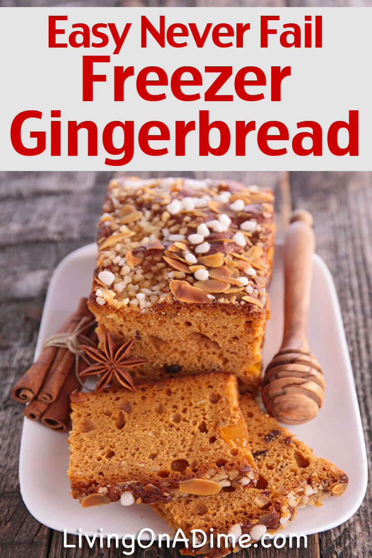 This never fail homemade gingerbread recipe is super easy and tasty and you can even easily freeze it for later!
