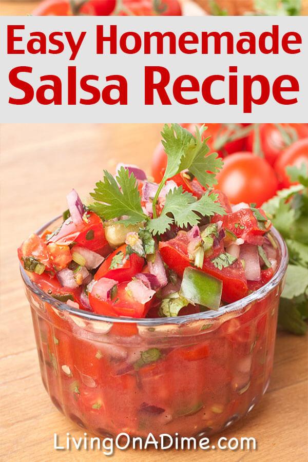 Easy homemade salsa recipes