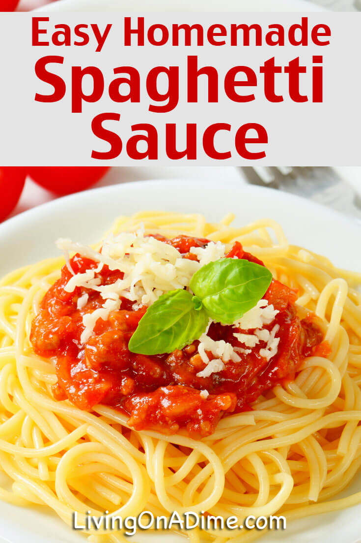 This easy homemade spaghetti sauce recipe makes a tasty Italian sauce that's great for spaghetti or homemade pizza!