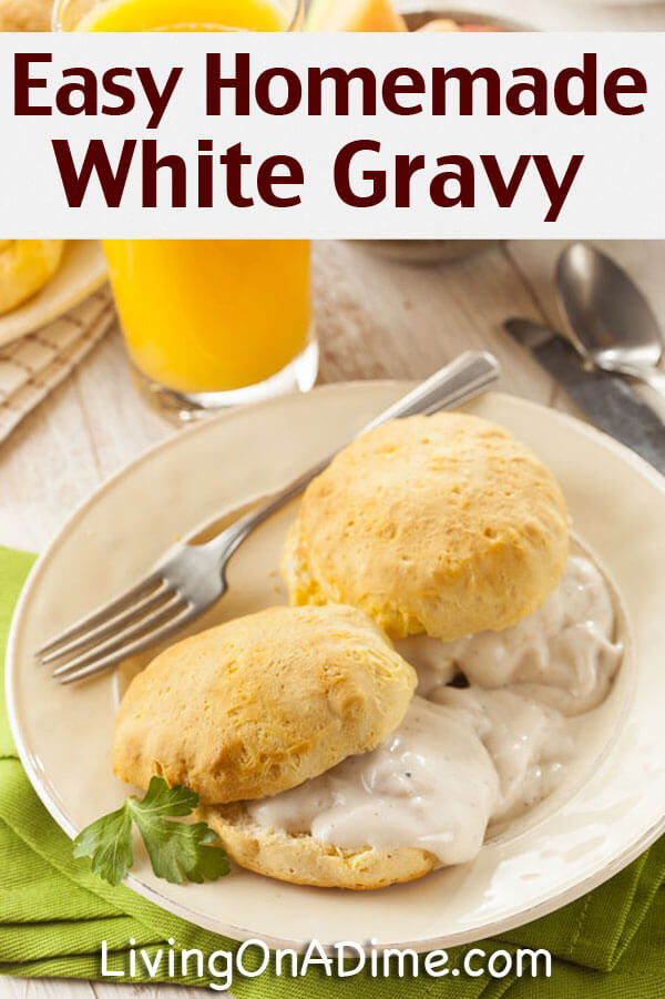 Easy Homemade White Gravy Recipe