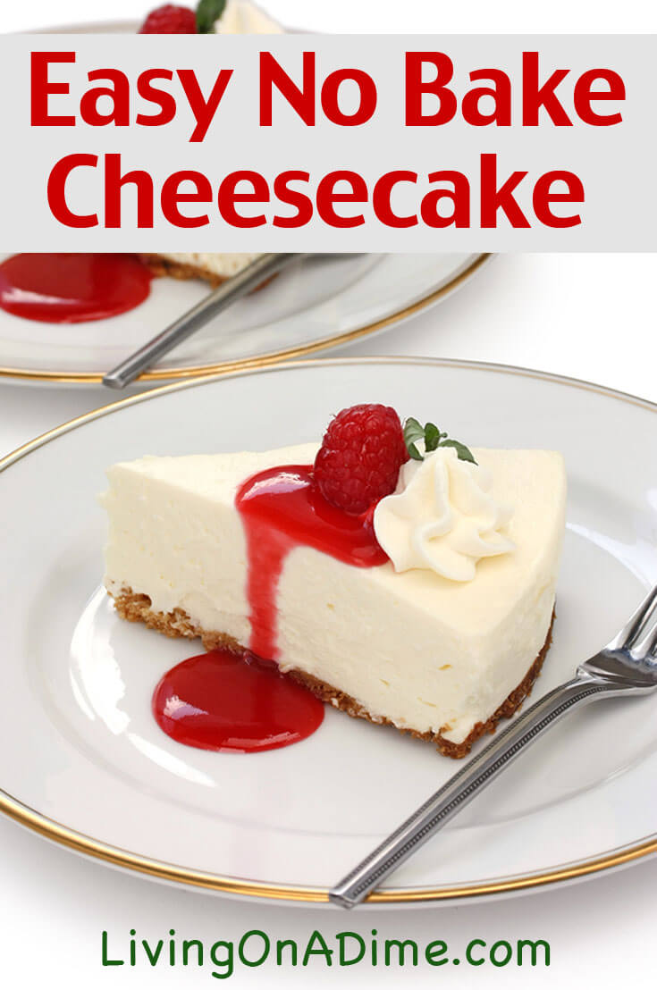 This easy no-bake cheesecake recipe is an easy recipe to make delicious cheesecake with just 4 ingredients! It's easy and super yummy and sure to satisfy that cheesecake craving!