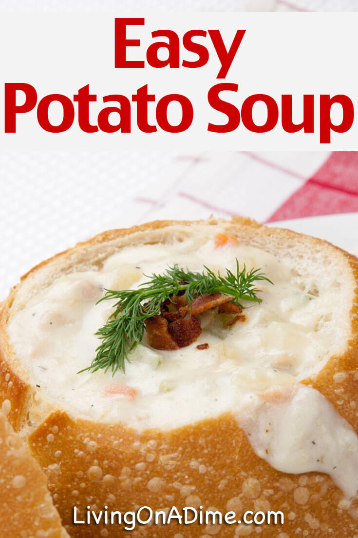 Here is our family's favorite easy potato soup recipe! This potato soup has been in our family for years and it's a HUGE favorite! Of course how can you go wrong with bacon in it! If you don't know how to make potato soup, you'll see that it is super easy! It tastes like a gourmet baked potato with bacon and the entire family will love it!