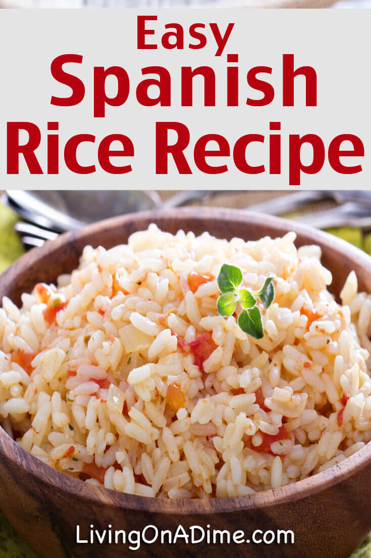 This Easy Spanish Rice Recipe makes a nice side dish to go with enchiladas and other Mexican food favorites. You can also serve it with Refried Beans for a complete meal!