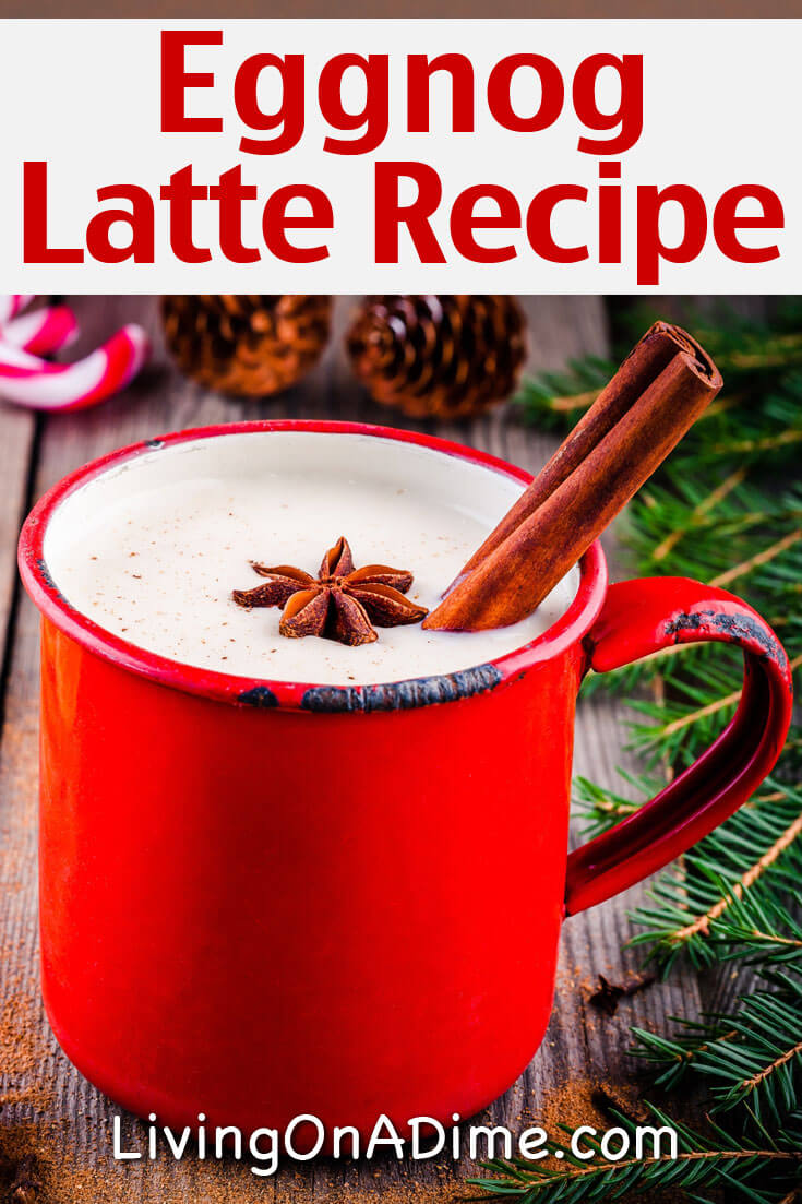 This Starbucks eggnog latte recipe is an easy and tasty homemade version of a Starbucks latte you can make with your leftover eggnog!