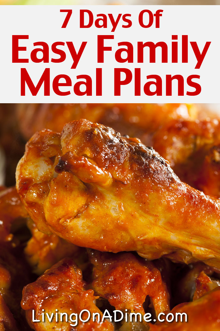 Here is week 3 of our family meal planner with easy family meal ideas that can save you money and satisfy your family without you spending too much time in the kitchen! These are easy and delicious comfort food recipes that are sure to satisfy and they're so easy you won't be tempted to spend a lot eating out! We've made it easy for you with these family meal plans and recipes!