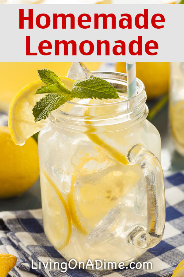 Homemade Lemonade Recipe – How to make fresh lemonade