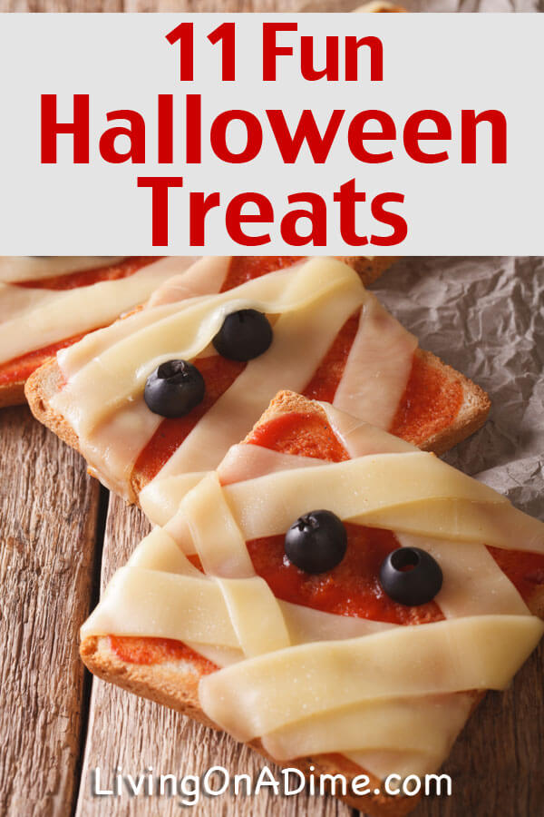 Here are some cute and fun Halloween treats and other cheap party food tips to make your Halloween get together fun without spending too much! Click here for the easy recipes and tips!